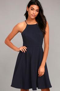 Best of You Navy Blue Midi Dress