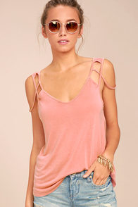 Project Social T Desert Terra Cotta Tank Top