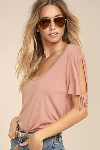 Project Social T Parsons Blush Pink Tee