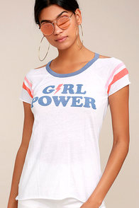 Chaser Girl Power White Tee