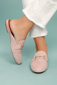 Maci Blush Loafer Slides