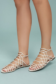 Ansley Beige Gladiator Sandals