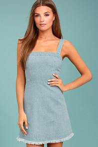 Another Day of Sun Light Wash Denim Dress