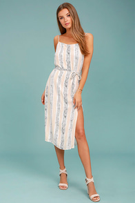 MINKPINK Sundowner White Print Midi Dress