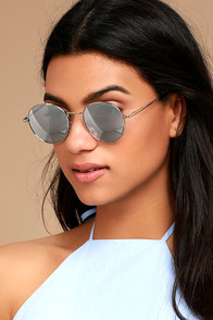 Oh Yeah Silver Mirrored Sunglasses
