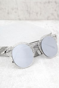 Livin' Easy Silver Mirrored Sunglasses