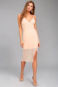 Keepsake Come Around Blush Pink Midi Dress