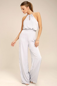 Dance With You Light Grey Jumpsuit