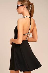 Lovely Grey Dress Halter Dress Skater Dress