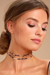 Change Your Spots Tan Leopard Print Choker Necklace