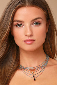 The Chic and the Stone Silver Layered Choker Necklace