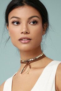 Mad About You Gold and Brown Wrap Necklace