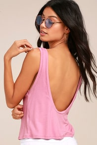Coolest Girl Blush Pink Backless Tank Top