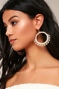 Queen Of The Isle Gold Earrings