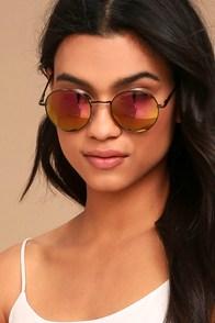 Oh Yeah Pink Mirrored Sunglasses