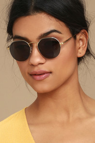 Crap Eyewear The Joy Brigade Silver and Gold Sunglasses