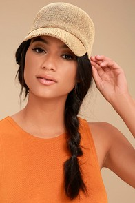 Wyeth Paula Beige Straw Baseball Cap