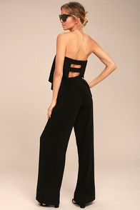 Easy Living Black Strapless Jumpsuit