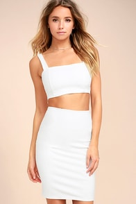After Midnight White Cutout Bodycon Dress