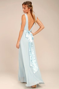 That Special Something Light Blue Maxi Dress