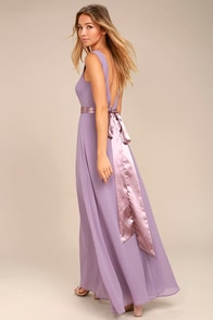 That Special Something Dusty Purple Maxi Dress