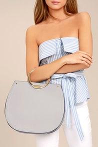 Melie Bianco Cameron Grey Handbag
