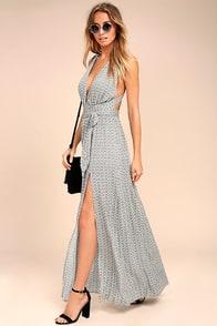 Casablanca Queen Black and White Print Maxi Dress