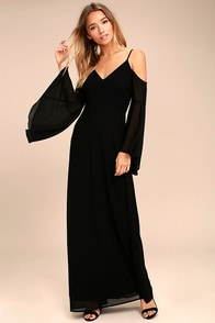 Glamorous Greeting Black Maxi Dress