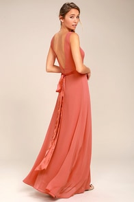 That Special Something Rusty Rose Maxi Dress