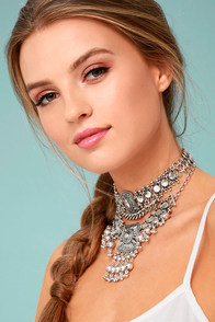 Dreams in Bali Silver Choker Necklace Set