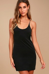 Fine Day Washed Black Dress