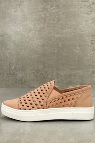 Seychelles Latest Nude Leather Slip-On Sneakers