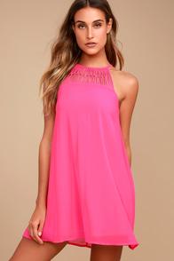 Tell Me Fuchsia Swing Dress