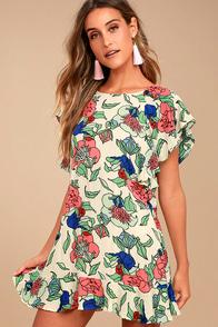 Tavik Layne Beige Floral Print Dress