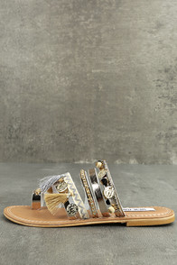 Steve Madden Rippel Metallic Multi Leather Sandals
