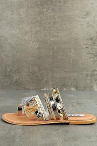Steve Madden Rippel Metallic Multi Leather Sandals