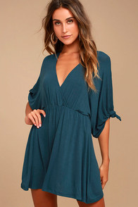 Bewitching Teal Blue Dress
