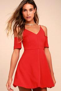 Ever So Enticing Red Skater Dress
