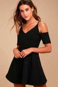 Ever So Enticing Black Skater Dress