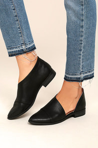 Karmen Black D'Orsay Pointed Toe Booties