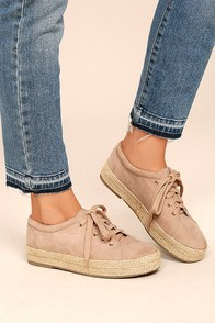Pippa Natural Suede Espadrille Sneakers