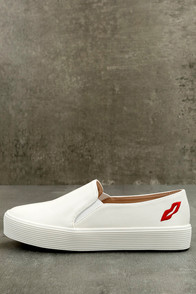 Etta White Slip-On Sneakers