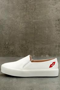 Etta White Slip-On Sneakers