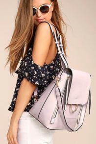 Melie Bianco Brooklyn Lavender Backpack