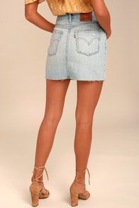 Levi's Deconstructed Light Wash Denim Mini Skirt