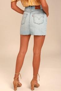 Levi's Deconstructed Light Wash Denim Mini Skirt