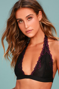Free People Elle Black Lace Bralette