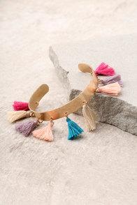 Candy Sweet Gold Tassel Bracelet