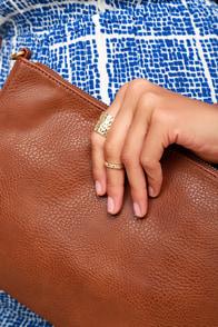 Helena Hammered Gold Ring Set