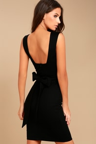 Glam Affair Black Bodycon Dress